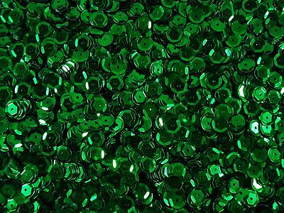 Sequins Metallic Cup 6mm Green 25g Dancing Costumes Beading  FREE POSTAGE