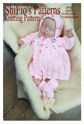 Baby Girl Knitting Patterns Free : KNITTING PATTERN for BABY LONG JACKET AND HAT, TROUSERS 0-3, 3-6mth #60   ?3....