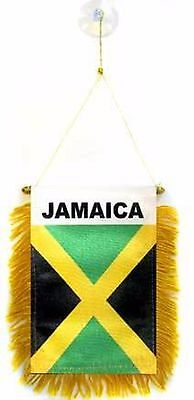 Jamaica Flag Hanging Car Pennant for Car Window or Rearview Mirror