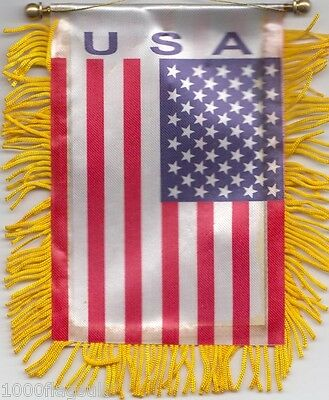 USA United States Flag Hanging Car Pennant for Car Window or Rearview Mirror