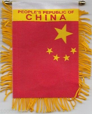 China Chinese Flag Hanging Car Pennant for Car Window or Rearview Mirror