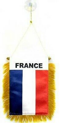 France French Flag Hanging Car Pennant for Car Window or Rearview Mirror