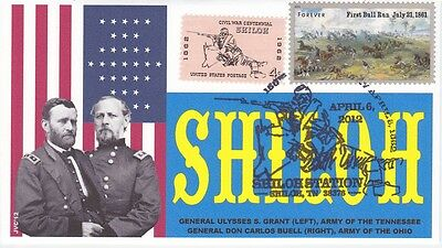 Jvc Cachets - Battle Of Shiloh Civil War - Event Cover - Issue Of 15 - Military