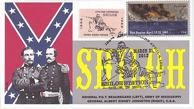 Jvc Cachets - Battle Of Shiloh Civil War - Event Cover -Issue Of 15 - Military 2