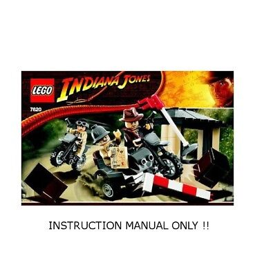 (Instructions) for LEGO 7620 - INDIANA JONES - Motorcycle Chase - MANUAL ONLY
