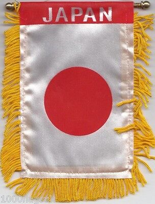 Japan Japanese Flag Hanging Car Pennant for Car Window or Rearview Mirror