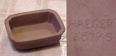 Small Vintage Haeger Natural Stone Baking Dish #657P-S ~ 4¾ x 3½-inch