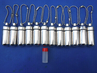 100 Micro Cache Containers Geocache Geocaching BISON TUBES W/FREE SHIP!