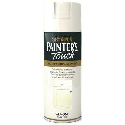 Rust-Oleum Painters Touch Almond Cream White Gloss Spray Paint - 400ml
