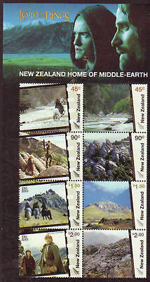 New Zealand 2004 Lord Of The Rings Ms Middle Earth Unmounted Mint