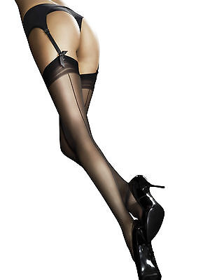 Fiore Marlena 20 Denier Back Seam Effect Stockings Yesterdays Glamour 3 colours