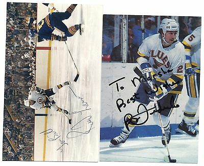 Reed Larson Signed / Autographed Boston Bruins NHL Team Photo