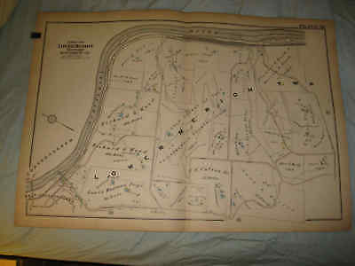 HUGE GORGEOUS ANTIQUE LOWER MERION TOWNSHIP PENNSYLVANIA HANDCOLORED MAP FineNR