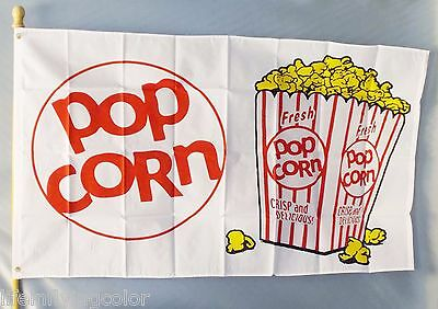 POPCORN Flag 3x5' Advertising Sign Banner Concession Snack-bar Fair New Food