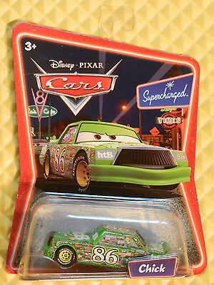 DISNEY CARS MATTEL 1ST RELEASE 23 BACK SUPERCHARGED CARD CHICK L5257 FROM CASE