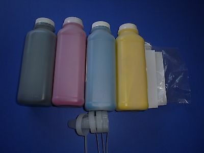 4 Gloss Toner Refill for OKI OKIDATA C3100 C3200 C5100 C5200 C5250 Color Printer