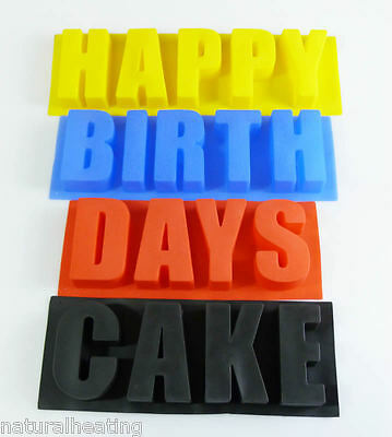 WORDS SET 'Happy', 'Birth', 'Days' AND 'Cake' Silicone Bakeware