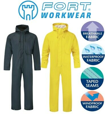 FORT - Stretchable Windproof WATERPROOF BREATHABLE HOODED COVERALLS Overalls