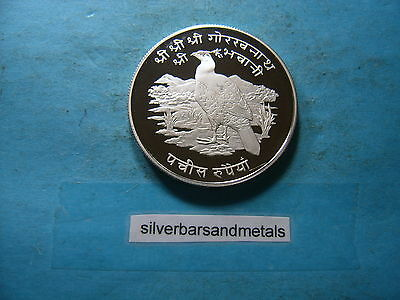 Pheasant 1975 Nepal Proof Silver Coin Rare Cool Animal Piece Low Mintage
