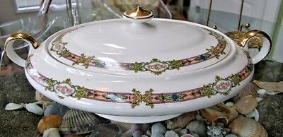 Knowles Taylor Knowles K.T.& K OVAL COVERED VEGETABLE BOWL Complete EXC