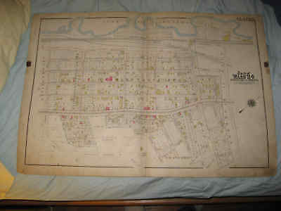 Huge Antique 1905 Bronx Washingtonville Penfield New York Handcolored Map Nr