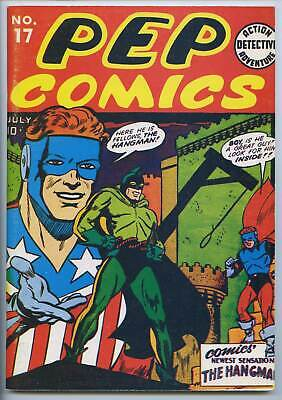 FLASHBACK #16 - Reprints GA Pep Comics #17 - 1st Hangman - High grade!