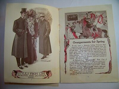 Vintage 1907 Spring & Summer Suit Catalog! Prices & Pictures-Correct Dress Guide