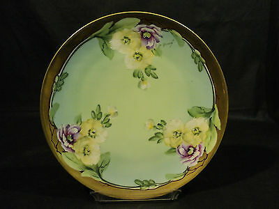 Antique Vienna Austria Hand Enameled & Gilded Porcelain Plate, Signed