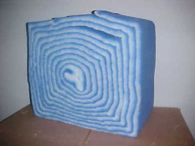 "New AIR HANDLER 12"" x 2"" x 45 foot ROLL BLUE/WHITE POLYESTER FILTER w/Tack 2GGK5"