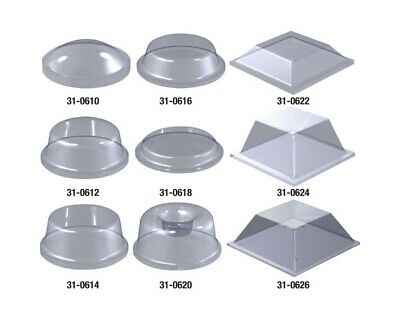RVFM Clear Adhesive Rubber Feet Fixings  on Sheets (Select Size when Buying)