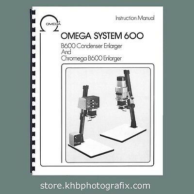Instruction Manual and parts lists for Omega B600 / B-600 Enlargers