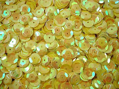 Sequins Cup 10mm Yellow AB 20g Dance Dancing Costumes Beading  FREE POSTAGE