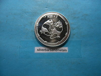 Panda Cubs 999 Silver Coin Round Cool Piece