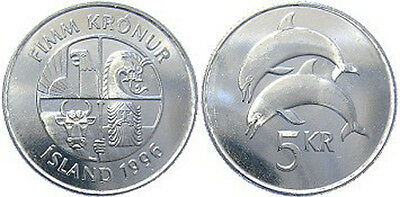 Iceland 1996 5 Kronur Uncirculated (KM28a)