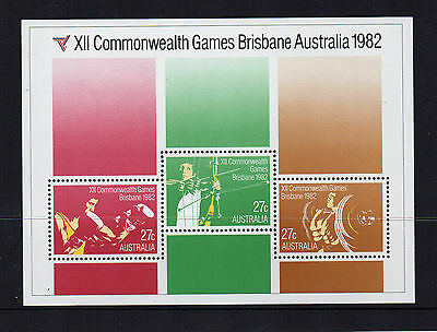 1982 Commonwealth Games Brisbane Miniature Sheet Sheetlet Mint cond