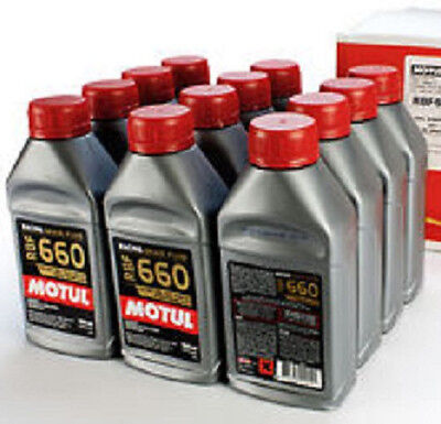 MOTUL RBF 660 RACING BRAKE FLUID LOT (12) CASE 500ML BOTTLE 617deg.f BOIL POINT