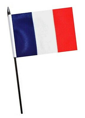 France Burgundy Small Hand Waving Flag