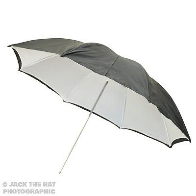 "40"" Pro Studio Flash Umbrella - Black & White Reflector Brolly. Removable Back."