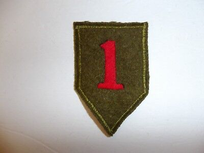 b0691 US Army 1930's-WW 2 1st Infantry Division patch Big Red One PA13