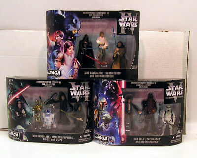 Set of 9 Star Wars 4/5/6 DVD Collection Figures- 3 Boxes MIB (112005)