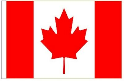 Canada Sleeved Courtesy Flag ideal for Boats 45cm x 30cm
