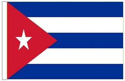 Cuba Sleeved Courtesy Flag ideal for Boats 45cm x 30cm