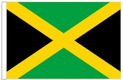 Jamaica Sleeved Courtesy Flag ideal for Boats 45cm x 30cm