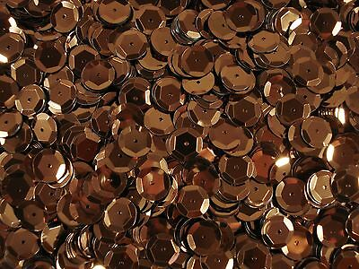 Sequins Metallic Cup 10mm Brown 25g Dancing Costumes Beading  FREE POSTAGE