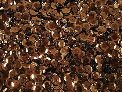 Sequins Metallic Cup 8mm Brown 25g Dancing Costumes Beading Cupped FREE POSTAGE