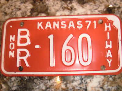 1971 Kansas  Nonhiway License Plate Br 160
