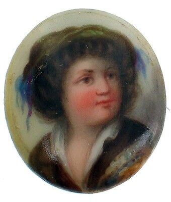 ANTIQUE KPM BERLIN GERMANY MINIATURE PORTRAIT PLAQUE UNMOUNTED SHAKESPEARE BOY
