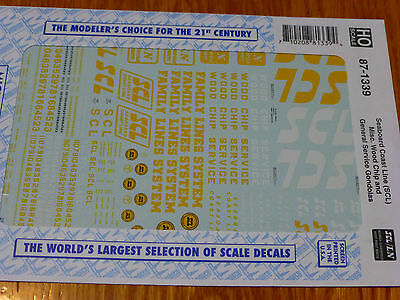 Microscale Decal N  #60-1339 Seaboard Coast Line SCL Wood chip and Gener -Misc