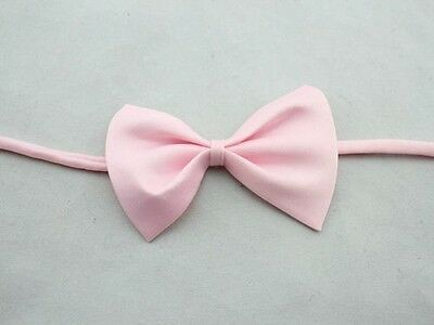 BABY PINK Pre Tied Boys Bow Tie Adjustable Wedding Prom Occasion Dickie FREE P&P