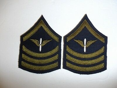 b0719p 1920's-WW2 US Army Air Force unofficial PFC Specialist 4th class pair R1D